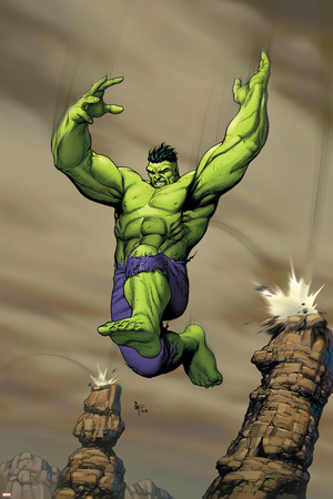 Giant-Size Incredible Hulk No.1 Cover: Hulk Stretched Canvas Print