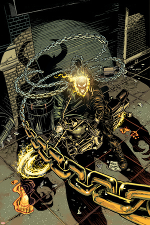 Ghost Rider No.19 Cover: Ghost Rider Stretched Canvas Print