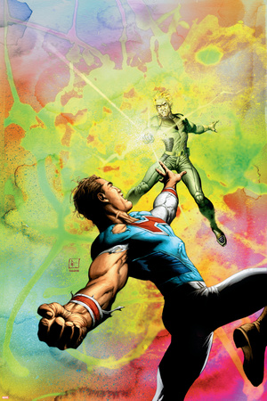 Supreme Power No.8 Cover: Hyperion and Dr. Spectrum Stretched Canvas Print