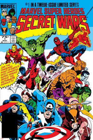 Secret Wars No.1 Cover: Captain America Stretched Canvas Print