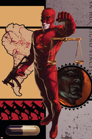 Daredevil No.109 Cover: Daredevil Stretched Canvas Print
