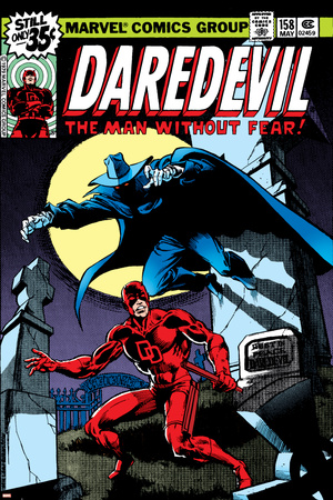 Daredevil No.158 Cover: Daredevil and Death-Stalker Stretched Canvas Print