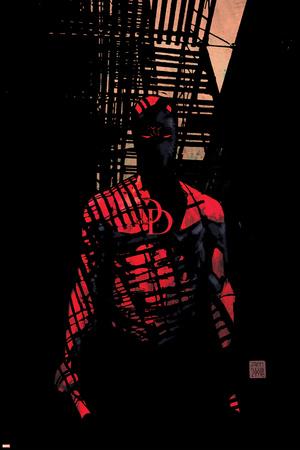 Daredevil No.60 Cover: Daredevil Stretched Canvas Print