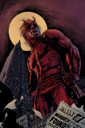 Daredevil By Ed Brubaker Saga Cover: Daredevil Stretched Canvas Print