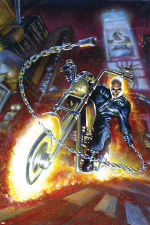 Ghost Rider Annual No.2 Cover: Ghost Rider Stretched Canvas Print
