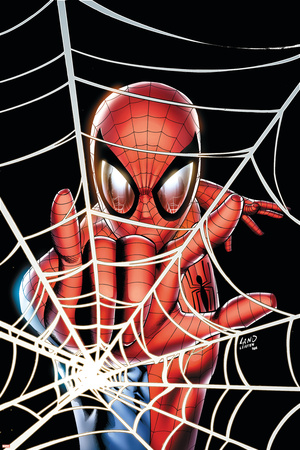 Amazing Spider-Man Family No.1 Cover: Spider-Man Stretched Canvas Print