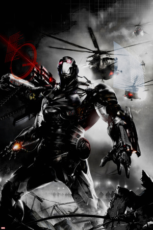 War Machine No.2 Cover: War Machine Stretched Canvas Print