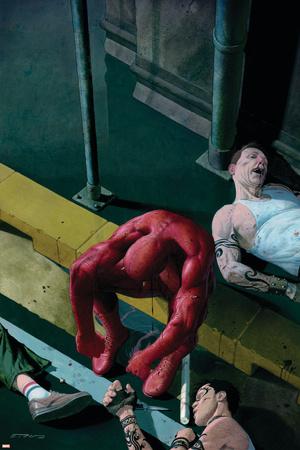 Daredevil No.504 Cover: Daredevil Stretched Canvas Print
