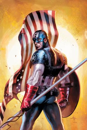 Ultimate Origins No.2 Cover: Captain America Stretched Canvas Print