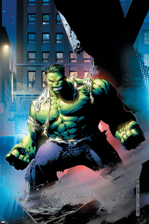 Hulk: Unchained No.1 Cover: Hulk Stretched Canvas Print