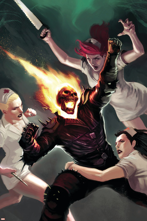 Ghost Rider No.21 Cover: Ghost Rider Stretched Canvas Print
