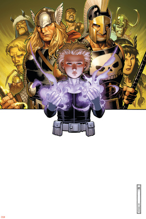 Secret Warriors No.10 Cover: Phobos, Ares and Thor Stretched Canvas Print