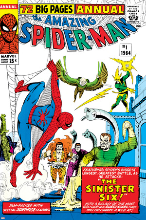 Amazing Spider-Man Annual No.1 Cover: Spider-Man Stretched Canvas Print