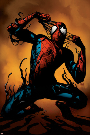 Ultimate Spider-Man No.125 Cover: Spider-Man Stretched Canvas Print