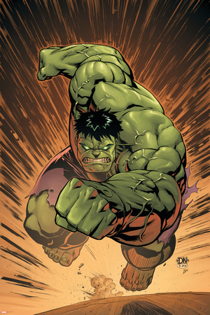 Marvel Adventures Hulk No.14 Cover: Hulk Stretched Canvas Print