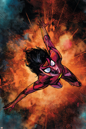 Spider-Woman No.3 Cover: Spider Woman Stretched Canvas Print