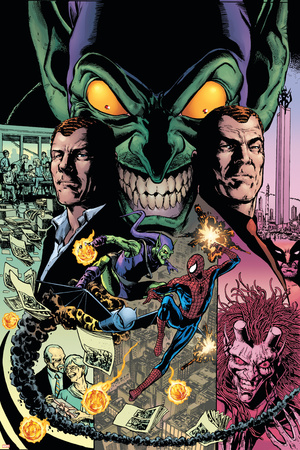 The Amazing Spider-Man No.595 Cover: Spider-Man and Green Goblin Stretched Canvas Print