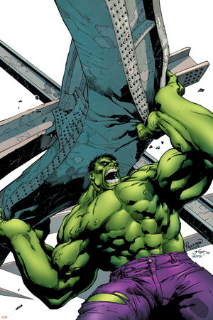 Marvel Adventures Hulk No.2 Cover: Hulk Stretched Canvas Print