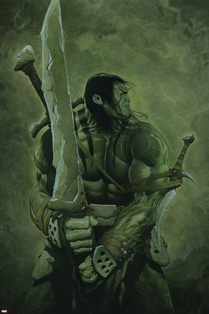 Skaar: Son of Hulk No.11 Cover: Skaar Stretched Canvas Print