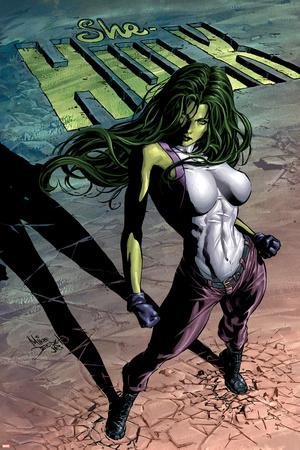 She-Hulk No.29 Cover: She-Hulk Stretched Canvas Print