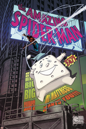 The Amazing Spider-Man No. 594 Cover: Spider-Man Stretched Canvas Print