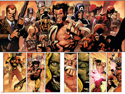 Secret Invasion No.8 Group: Wolverine Stretched Canvas Print