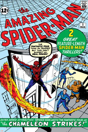 Amazing Spider-Man No.1 Cover: Spider-Man Stretched Canvas Print