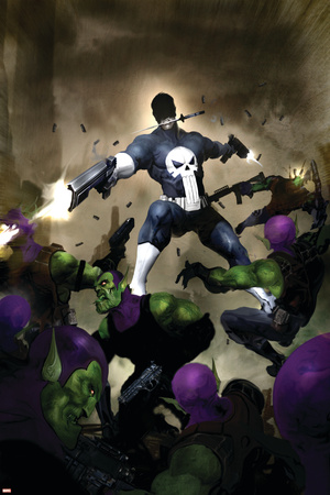 Punisher War Journal No.25 Cover: Punisher Stretched Canvas Print