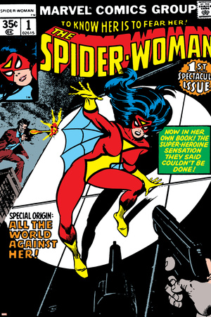 Spider-Woman No.1 Cover: Spider Woman Stretched Canvas Print
