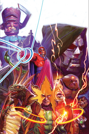 Marvel 1985 Must Have: Marvel 1985 No.2 Cover: Magneto Stretched Canvas Print