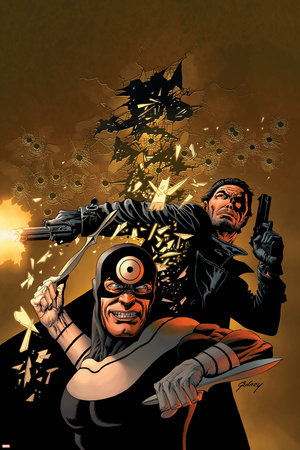 Punisher Vs. Bullseye No.5 Cover: Punisher and Bullseye Stretched Canvas Print
