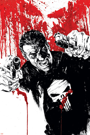 Punisher War Journal No.17 Cover: Punisher Stretched Canvas Print