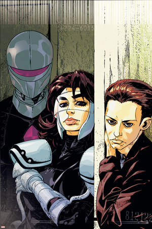 The Loners No.5 Cover: Turbo, Urich, Phil and Darkhawk Stretched Canvas Print