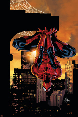 Amazing Spider-Man Family No.2 Cover: Spider-Man Stretched Canvas Print