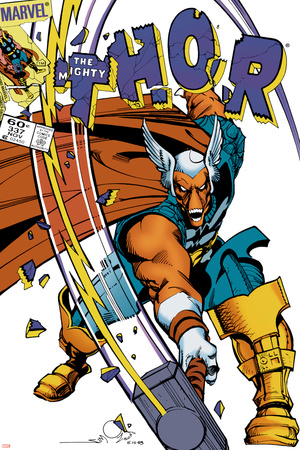 The Mighty Thor No.337 Cover: Beta-Ray Bill Stretched Canvas Print