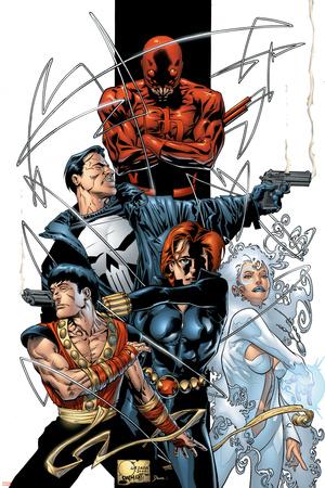 Marvel Spotlight: Marvel Knights 10th Anniversary Cover: Daredevil Stretched Canvas Print