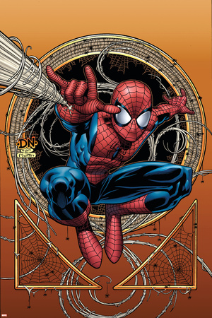 Marvel Adventures Spider-Man No.36 Cover: Spider-Man Stretched Canvas Print