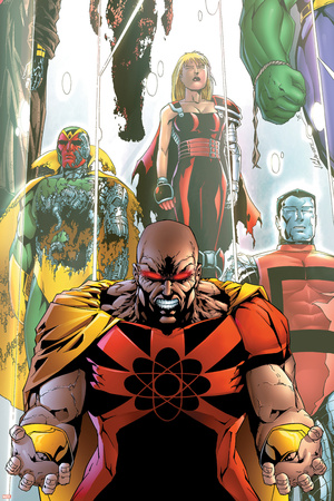 Exiles No.63 Cover: Hyperion, Colossus and Vision Stretched Canvas Print