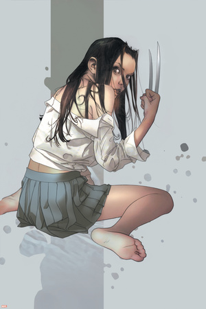 NYX No.4 Cover: X-23 Stretched Canvas Print