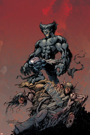 Excalibur No.9 Cover: Beast Stretched Canvas Print