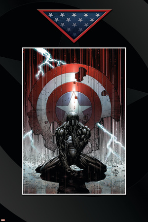 Fallen Son: The Death Of Captain America No.4 Cover: Spider-Man Charging Stretched Canvas Print