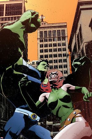Exiles No.97 Cover: Blink and Hulk Stretched Canvas Print