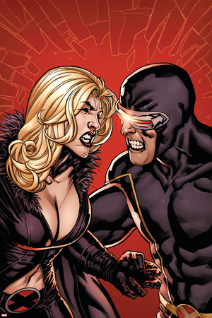 Dark X-Men: The Confession No.1 Cover: Emma Frost and Cyclops Stretched Canvas Print