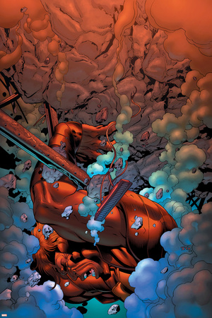 New Thunderbolts No.3 Cover: Atlas Stretched Canvas Print