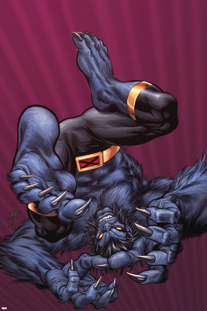 X-Men Forever No.9 Cover: Beast Stretched Canvas Print