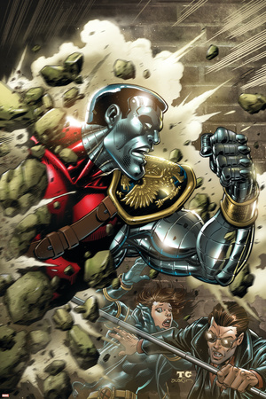 X-Men Forever No.11 Cover: Colossus Stretched Canvas Print