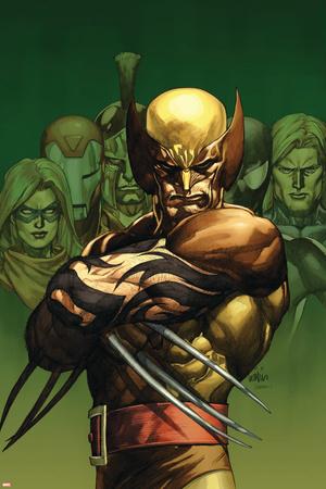 Dark Wolverine No.75 Cover: Wolverine Stretched Canvas Print