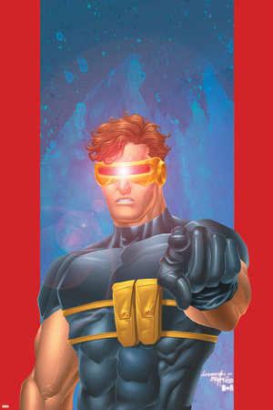 Ultimate X-Men No.1/2 Cover: Cyclops Stretched Canvas Print