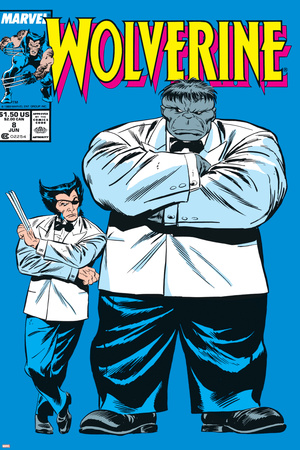 Wolverine No.8 Cover: Wolverine and Hulk Stretched Canvas Print