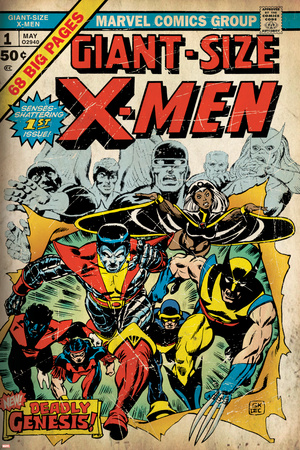 Marvel Comics Retro: The X-Men Comic Book Cover No.1 (aged) Stretched Canvas Print